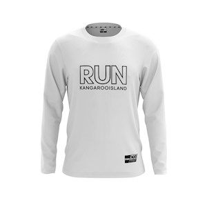 RUN KI Performance Long Sleeve Tee - White