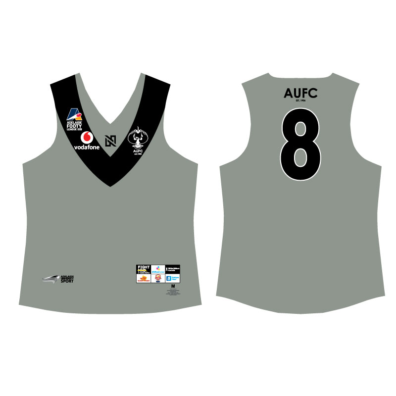 AUFC Mens Grey Long Sleeve Guernsey