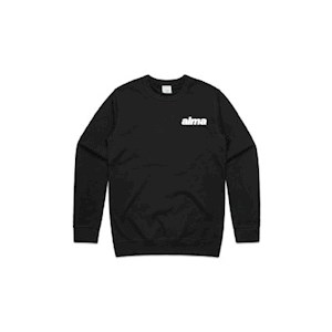 ALMA Black Crew Neck Jumper