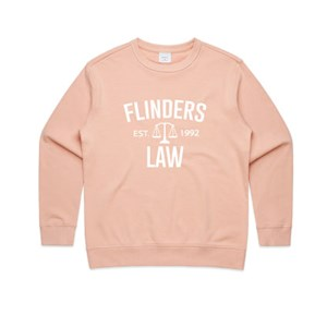 Flinders Law Womens Crew - Pale Pink