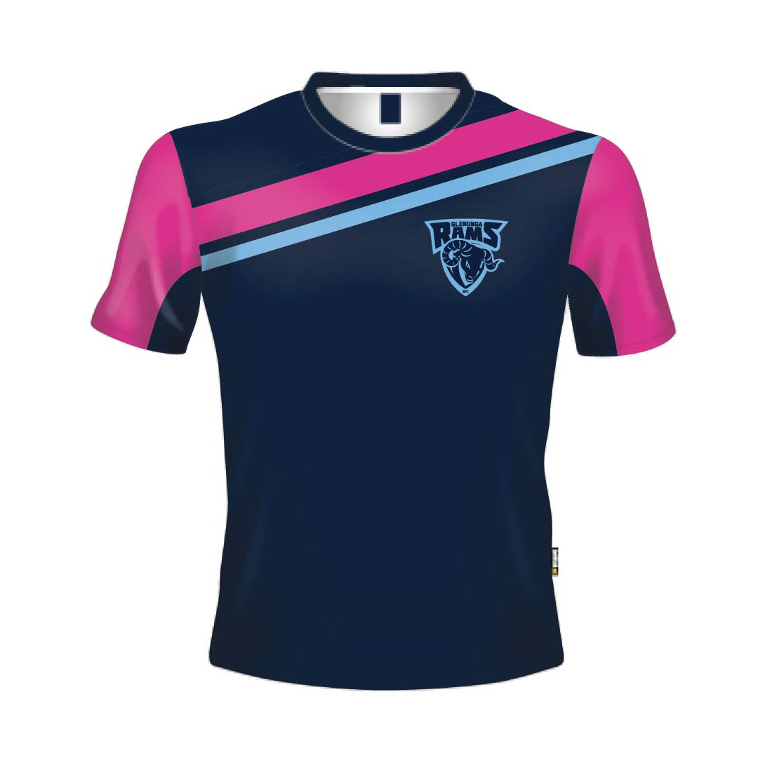 Glenunga FC Registered Girls Warm up Tee