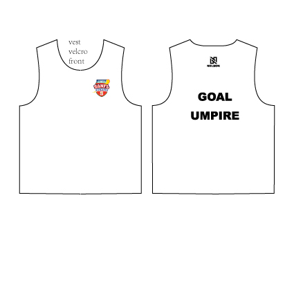 SANFL Juniors Goal Umpire Vest